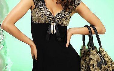 Dámská noční košilka Donna - Katie. Luxusní model s květinovou krajkou.