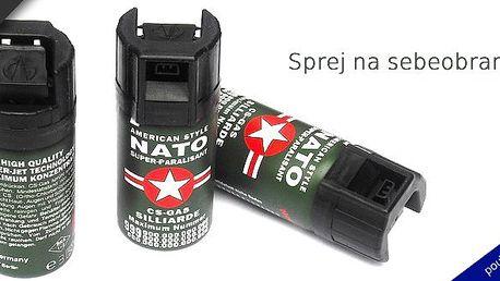 Kapesní sprej na sebeobranu style NATO 40 ml. Buďte připraveni na všechno!