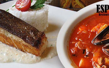 Čtyřchodové menu pro dva. Španělské rybí pokrmy!
