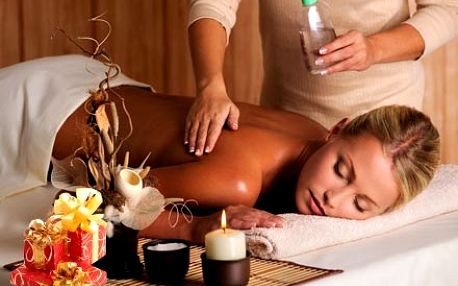 60 minutová aroma masáž zad, šíje a nohou nejkvalitnějšími přírodními oleji pro hluboký relaxační zážitek.
