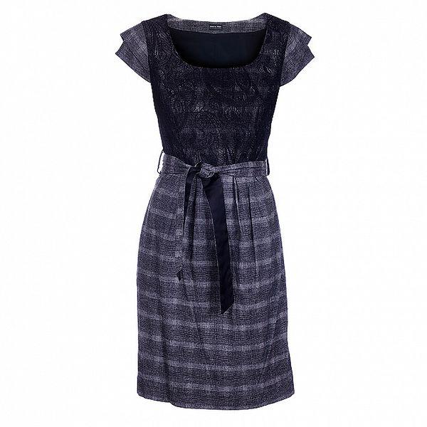 Dámské černobílé tvídové šaty Pietro Filipi