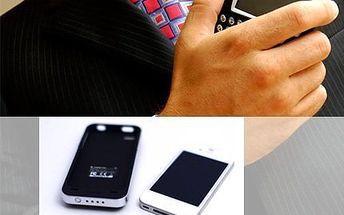 Kryt na iPhone 5! Kryt má zabudovanou přídavnou baterii, která prodlouží výdrž mobilu!