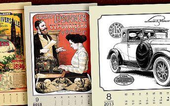 Nádherně ilustrované kalendáře na rok 2013