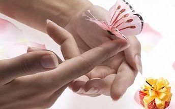 Luxusní balíček wellness péče pro krásu Vašich rukou včetně kompletní manikúry, peelingu, parafínového zábalu.