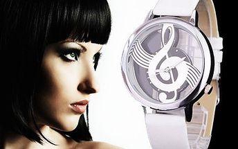 Hodinky s houslovým klíčem! Kvalitní strojek Quartz a nádherný design!