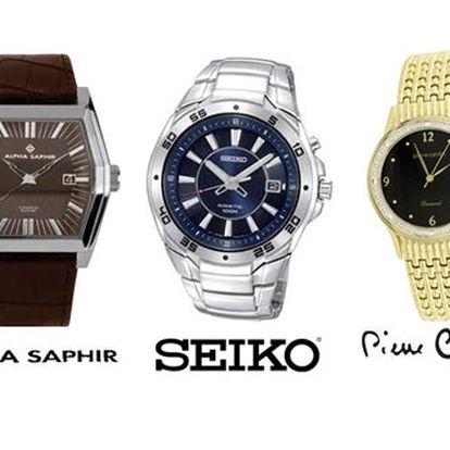 Dámské a pánské luxusní hodinky! Veškeré modely luxusních klasických, sportovních i speciálních dámských a pánských hodinek značek Piere Cardin, Festina, Citizien, Seiko a Alpha Saphire nyní s 51% slevou