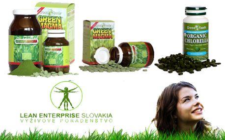 Tip na ZDRAVÝ darček! Zelený jačmeň Green Magma 150g, Zelený jačmeň Green Magma 320 tbl. a Chlorella! To sú jedinečné a dokázateľné účinky na zdravie! V cene aj poštovné.