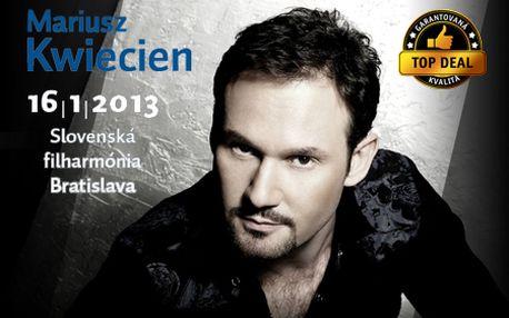 Venujte sebe a blízkym exkluzívny vianočný darček: VSTUPENKU na koncert svetovej opernej hviezdy Mariusza Kwieciena! V predaji limitovaný počet: 50ks!