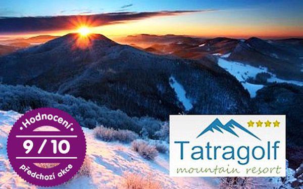 4* apartmán pro dva ve Vysokých Tatrách – 5 km od Popradu a Tatranské Lomnice, sleva na skipasy, děti do 6 let zdarma