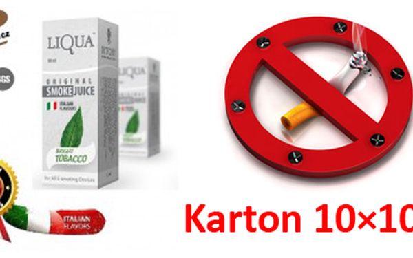 Karton 10×10 ml vybraných příchutí e-liquidů oblíbené italské značky Liqua. Cena je včetně poštovného! Naplň svou e-cigaretu kvalitní náplní Liqua a vychutnej si chuť různých příchutí. Zdravěji - jen čistý nikotin - bez karcinogenů, bez zápachu.