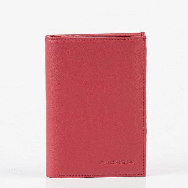 Dámská tmavě růžová kožená peněženka Fuchsia
