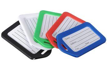 Jmenovky na zavazadlo 5 kusů - na výběr z pěti barev a poštovné ZDARMA! - 359