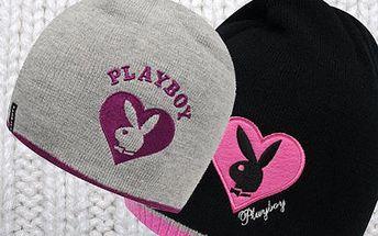 Dámská čepice Playboy! Příjemný pletený materiál s logem králíčka zahřeje a perfektně sedne!