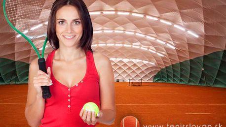 Hodina TENISU na krytých tenisových kurtoch Slovan Bratislava! Platnosť do 31. 3. 2013 a využiteľnosť počas celého dňa! Vyzvite svojich priateľov na poriadny tenisový súboj!