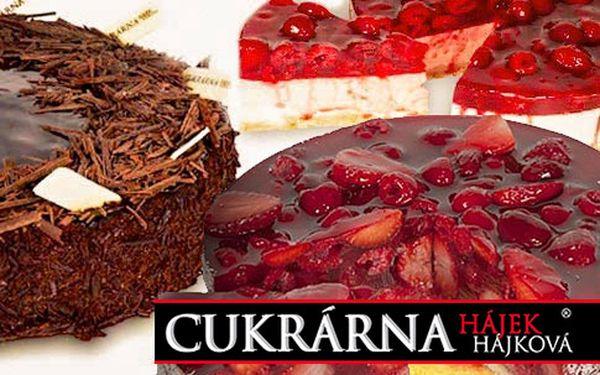 Proslulé dorty z Cukrárny Hájek & Hájková – čokoládový, malinový, ovocný, odběr na 4 provozovnách