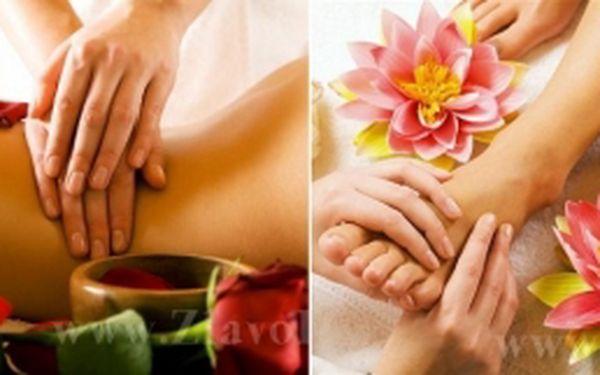 Klasická masáž chrbtice alebo reflexná masáž chodidiel, alebo dvojkombinácia podľa výberu