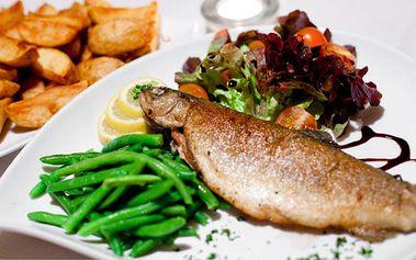 Len 4,99€ za grilované rybie špeciality s prílohou. Losos, pstruh, makrela, kapor alebo heik so 62% zľavou.