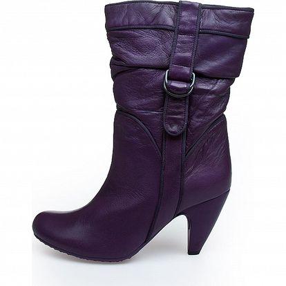 Dámské tmavě fialové kotníkové kozačky Fornarina