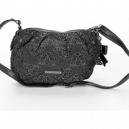 Dámská černá kabelky Fornarina s výšivkou