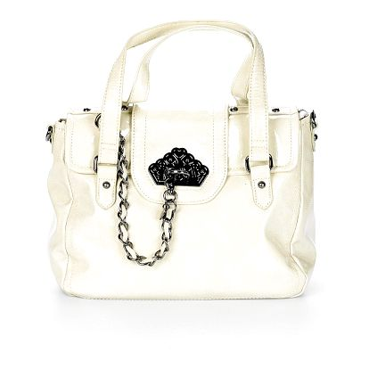 Dámská bílá lakovaná kabelka Fornarina