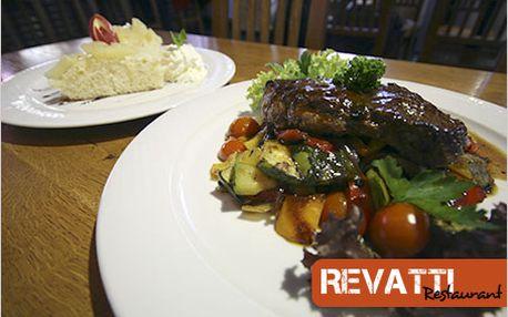 Pravá chuť Ameriky v restauraci Revatti. Menu pro dva kousek od Vltavy.