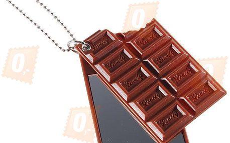 Přívěsek na klíče se zrcátkem - ve tvaru čokolády a poštovné ZDARMA! - 360