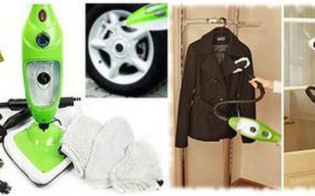 Praktický PARNÍ MOP 5v1 se slevou 59 %: Ulehčete si úklid domácnosti! Pořiďte si lehký a přenosný mop, který vyčistí koberce, umyje okna, vydezinfikuje podlahu a dokonce i narovná oblečení.