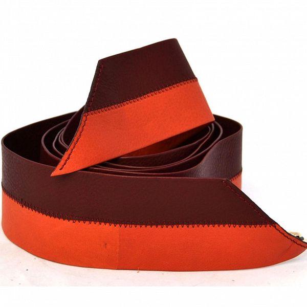 Dámský vínovo-červený kožený pásek Mauro Grifoni