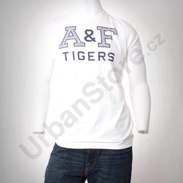 Tričko A&F T-Shirt_White