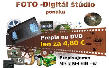 Máte doma staré VHS či VHSC kazety, miniDV kazety alebo HI8, ale nemáte si ich ako pozrieť? Nevadí! S úžasnou zľavou 54% Vám prevedieme VHS a VHSC video kazetu ľubovoľnej dĺžky alebo miniDV kazety či HI8 na DVD nosič, len za 4,60 €!