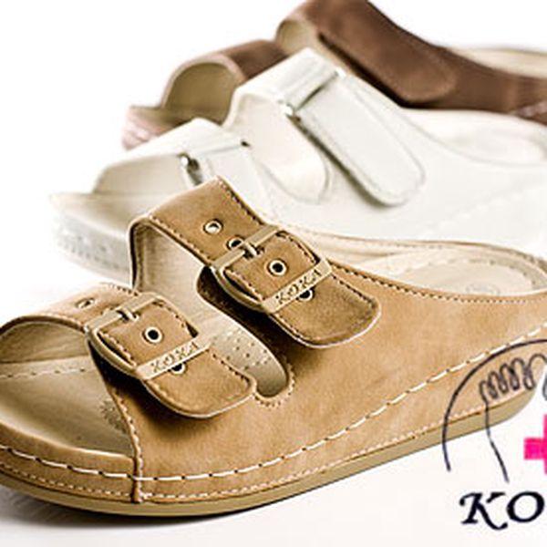 Pohodlné zdravotní pantofle na klínku – velikosti 36–41, osobní odběr, nebo poštou za 100 Kč