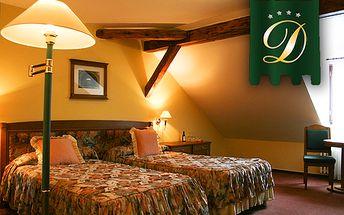 3-dňový ROMANTICKÝ pobyt pre 2 osoby v luxusnom hoteli Dvořák**** s výhľadom na Český Krumlov! V cene aj raňajky, 3-chodová večera, Wi-Fi a zľava na koktejly!