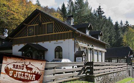 Fantastických 999 Kč za ubytování pro 2 osoby na 3 dny (2 noci) v nově zrekonstruovaném Ranči u Jelena.