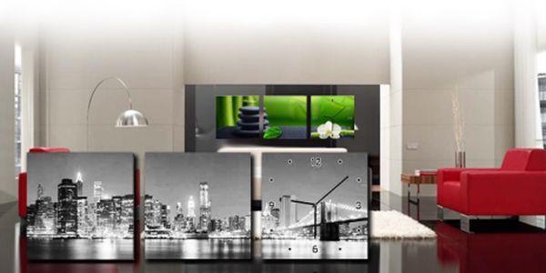 Krásný třídílný OBRAZ se zabudovanými hodinami jen za 699 Kč! Unikátní doplněk do interiéru! Na výběr 7 motivů, odolný rám z borovicového dřeva s 3D efektem. SLEVA 58%!