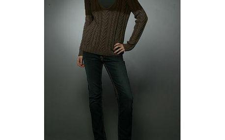 Dámský hnědý vlněný svetr Prada