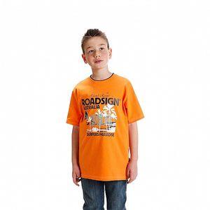 Chlapecké oranžové tričko Roadsign Australia s potiskem