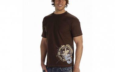 Pánské tmavě hnědé tričko Roadsign Australia