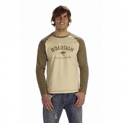 Pánské hnědo-béžové tričko Roadsign Australia