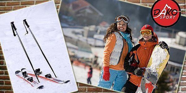 349 Kč za zapůjčení kompletního lyžařského nebo snowboardového vybavení! Vyzkoušejte carvingy nebo snowboard!