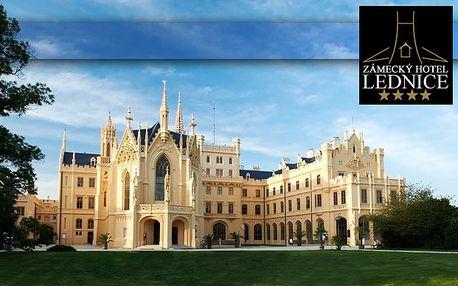 Tri dni v Zámockom Hoteli Lednice**** s polpenziou, degustáciou vín a krásnym okolím len za 139€. Pobyt pre dvoch v susedstve Lednického zámku - v zámockom parku, ktorý je zapísaný do zoznamu UNESCO so 40% zľavou.