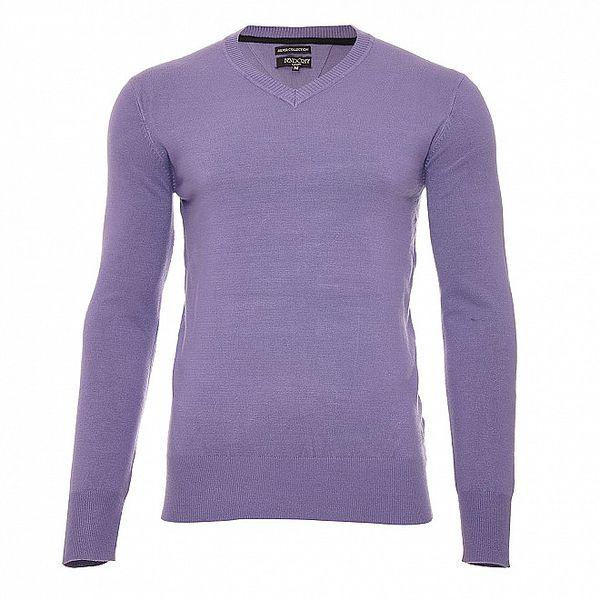 Elegantní fialový svetr