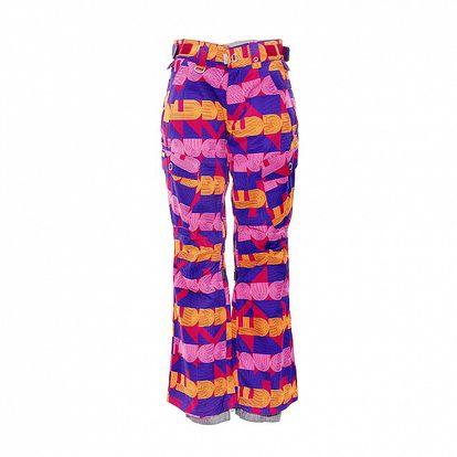 Dámské zimní kalhoty značky Nugget v pestrých barvách se vzorem