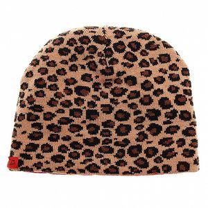 Obojstranná dámska pletená čapica Pussy Deluxe s leopardím vzorom