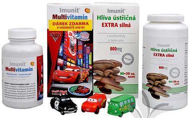 Imunit Hlíva ústřičná Extra silná s nukleotidy 90 tob. + 30 tob. ZDARMA + Imunit Multivitamín 100 tbl. ZDARMA