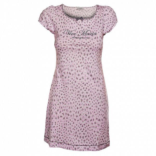 Dámske ružové šaty Vive Maria s leoparďou potlačou