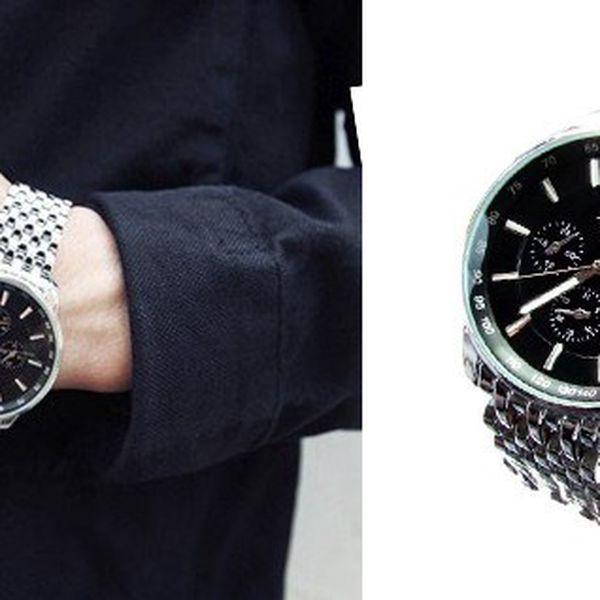 Luxusní pánské hodinky SINOBI LUXURY S15 vyrobené ze zdravotně nezávadného, antialergenního a odolné nerezové oceli pro pohodlné nošení!
