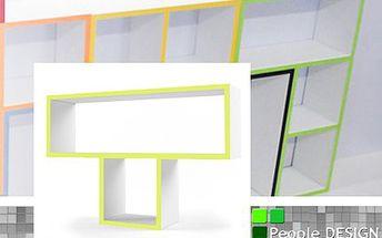 Originální designové police! Dodejte do vašeho interiéru nádech originality!