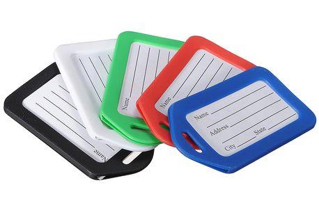 Jmenovky na zavazadlo 5 kusů - na výběr z pěti barev a poštovné ZDARMA! - 731
