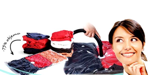 Revoluční VAKUOVÉ PYTLE v sadě 7 ks o rozměrech 80x60cm. Bezkonkurenční nabídka za 199 Kč! Jednoduché skladování sezónního oblečení se slevou 60%!