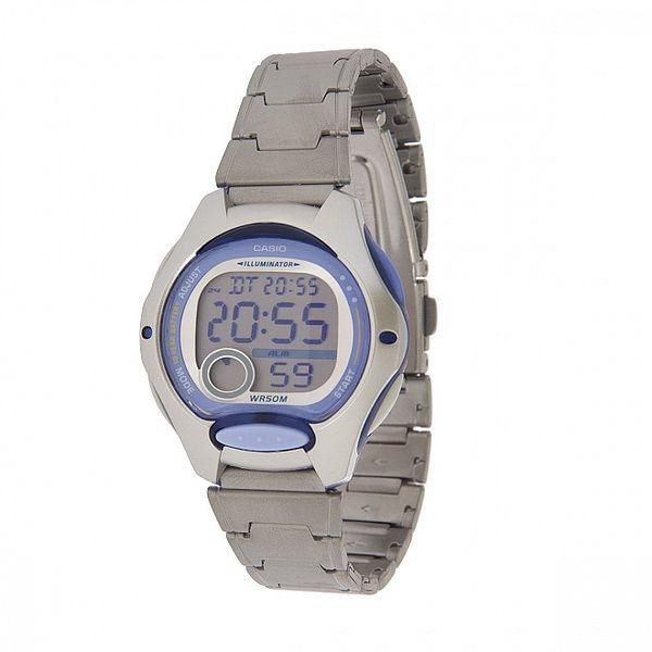 Dámské ocelové hodinky Casio s fialovými detaily